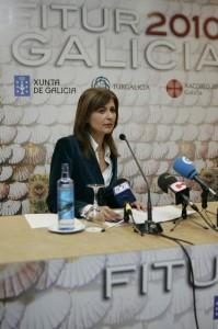 Carmen Pardo, secretaria de Turismo, en un momento de la presentación (foto Jessica Barcala)
