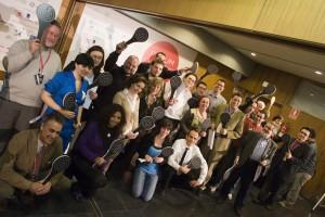 Imágen del primer encuentro celebrado en Compostela (foto forumsantiago.com)