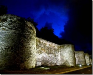 Vista de la muralla lucense (foto viajespain.com)