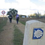peregrinos a su paso por León
