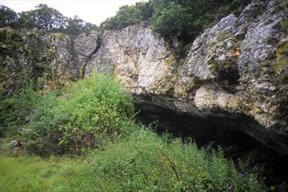 una de las entradas a la cueva de atapuerca