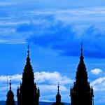 Catedral y el cielo de Santiago