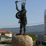 Figura Vikingo en Catoira