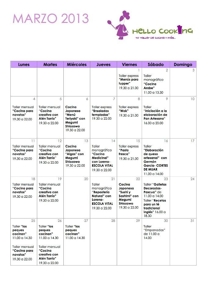 Calendario 2013 Marzo March 2013 Png