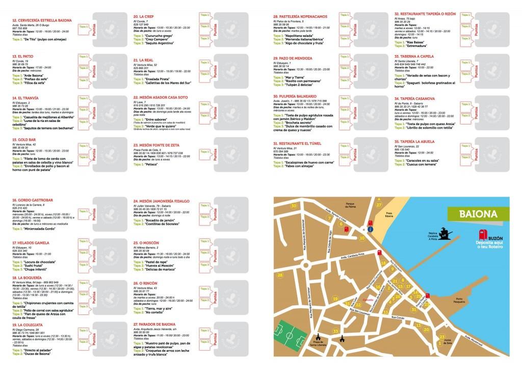 itinerario  de locales participantes