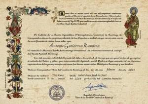 certificado de distancia