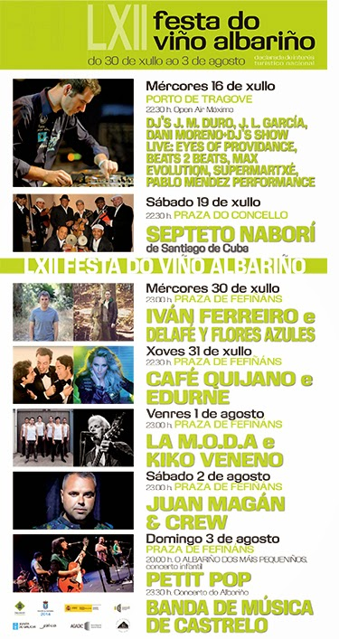 Festa Do Albariño 2014 Anuncia Su Cartel Musical