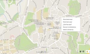 Mapa Google de Compostela