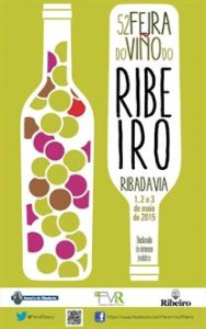 Cartel Feira do Viño do Ribeiro 2015