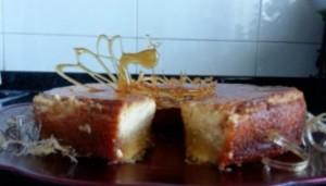 Fusion flan de queso & tarta de almendra de María.  Isabel Carneiro Hombre