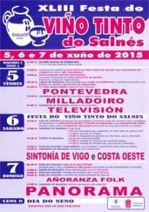 Cartel Festa do Tinto de Barrantes 2015