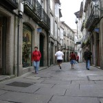 zona vieja de Santiago de Compostela