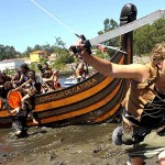 Desembarco vikingo en Catoira 2