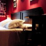 Hotel Puerta del Perdon cabecera de la cama