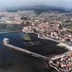 Vista aérea puerto Cambados