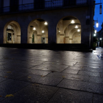 Calles de Pontevedra de noche