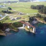 Puente dentro del mar