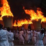 Fiesta sintoísta del fuego en el Kumano Kodo