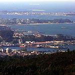 vista panoramica de Vilagarcia de Arousa