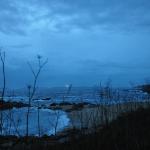 Paisaje nocturno en Bueu