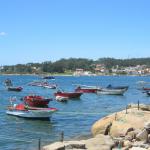 Barcas en la orillacde Arousa