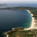 Vista aérea playas Cangas