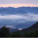 Montañas sagradas del Kumano al amanecer