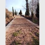 calzada romana que va hacia el río