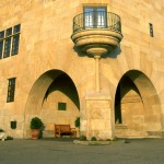 fachada del parador de baiona