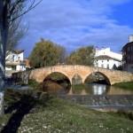 puente sobre el rio iranzu